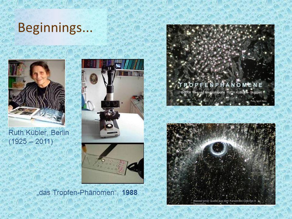 """Beginnings... """"das Tropfen-Phänomen , 1988 Ruth Kübler, Berlin (1925 – 2011)"""