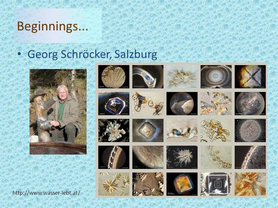 Georg Schröcker, Salzburg http://www.wasser-lebt.at/ Beginnings...