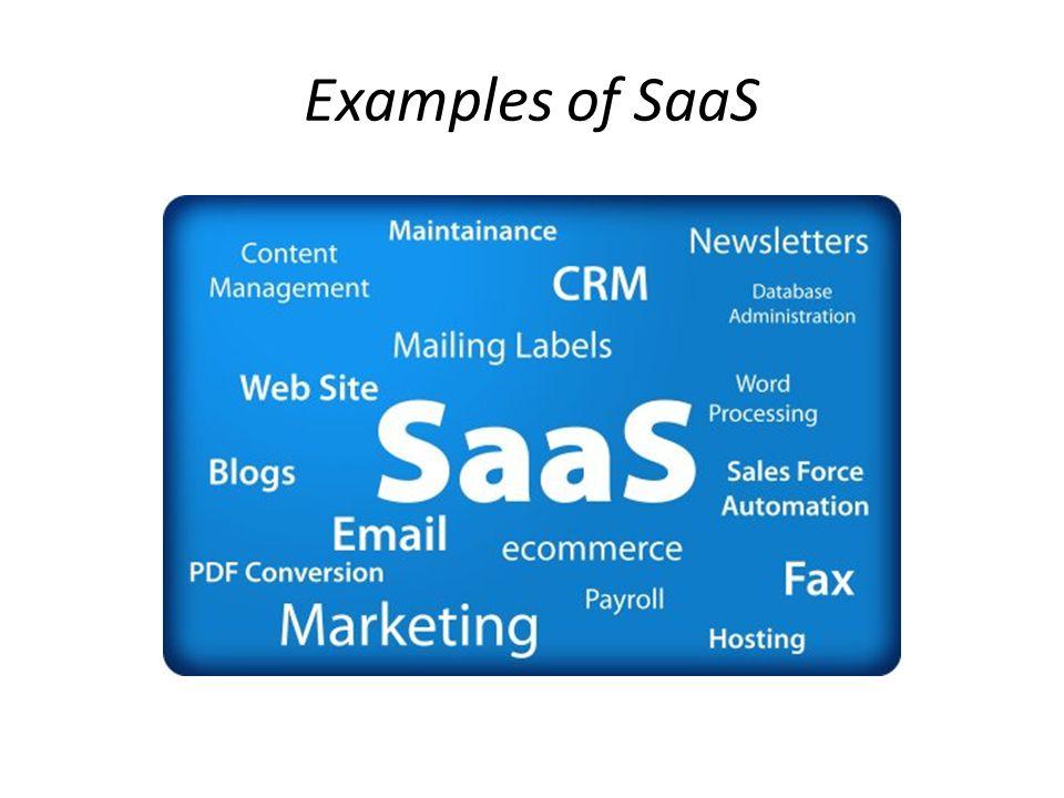 Examples of SaaS