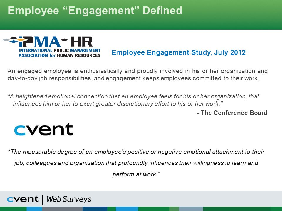 Engagement Segmentation Alignment Questions: 1.I know what is expected of me at work.