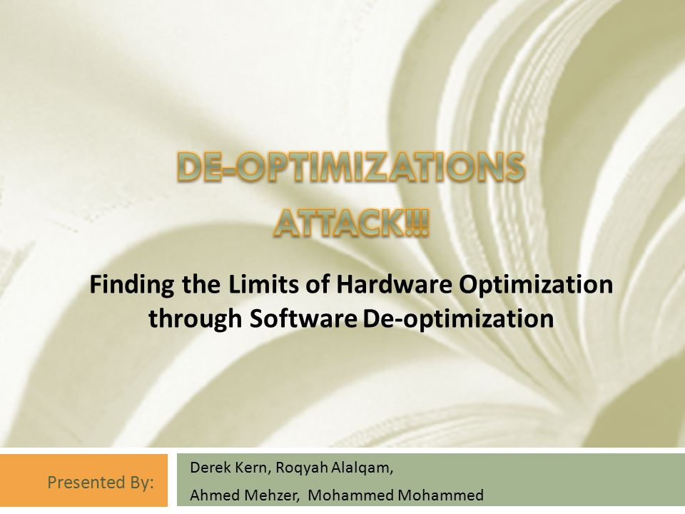  Description  CPUs often have instructions that can perform almost the same operation  Yet, in spite of their seeming similarity, they have very different latencies.