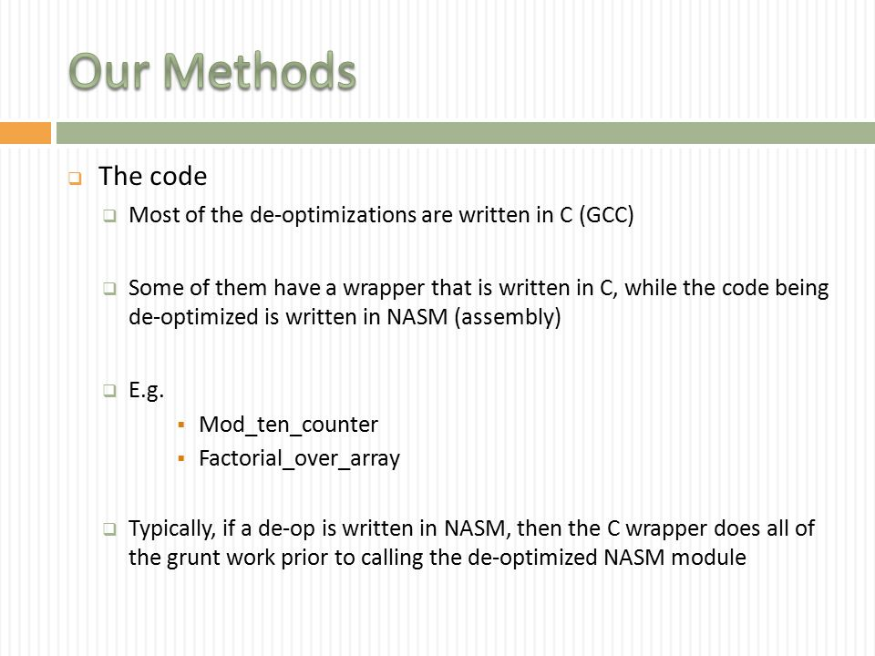  Description  Some instructions can do the same job but with more cost in term of number of cycles Example: float f1, f2 if (f1<f2) This is a common usage for programmer which could be considered a de- optimization technique  The Opteron  Branches based on floating-point comparisons are often slow