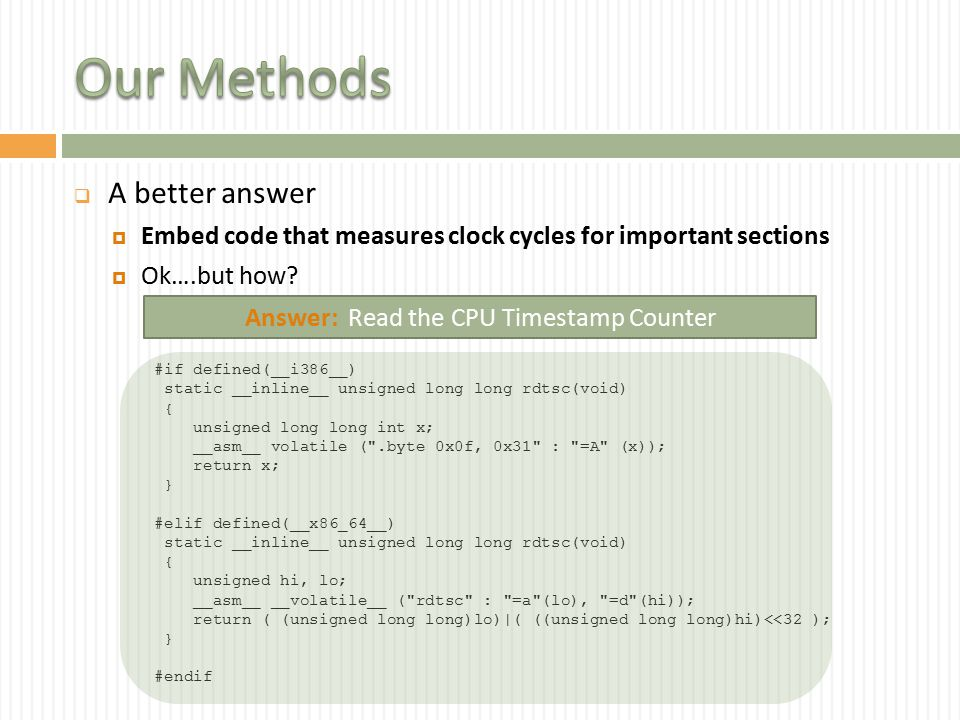  Lessons  The code for the de-optimization is so natural that it is a little scary.