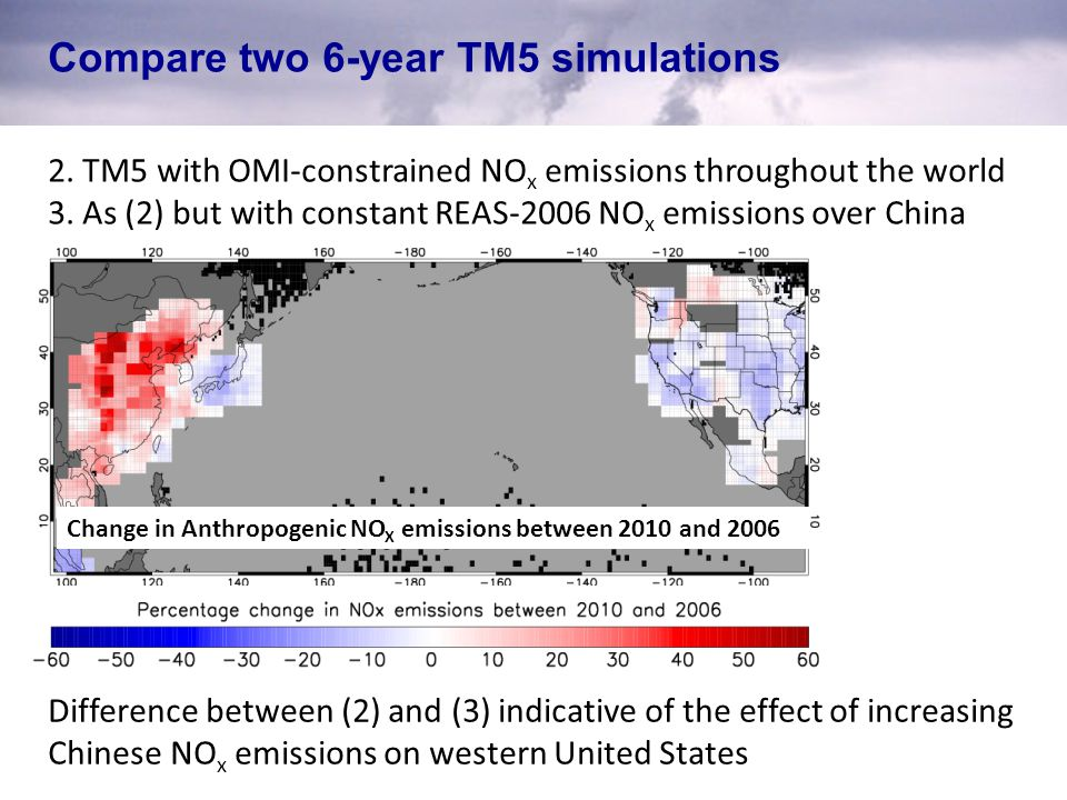 Compare two 6-year TM5 simulations 2.