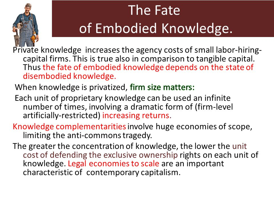 The Fate of Embodied Knowledge.