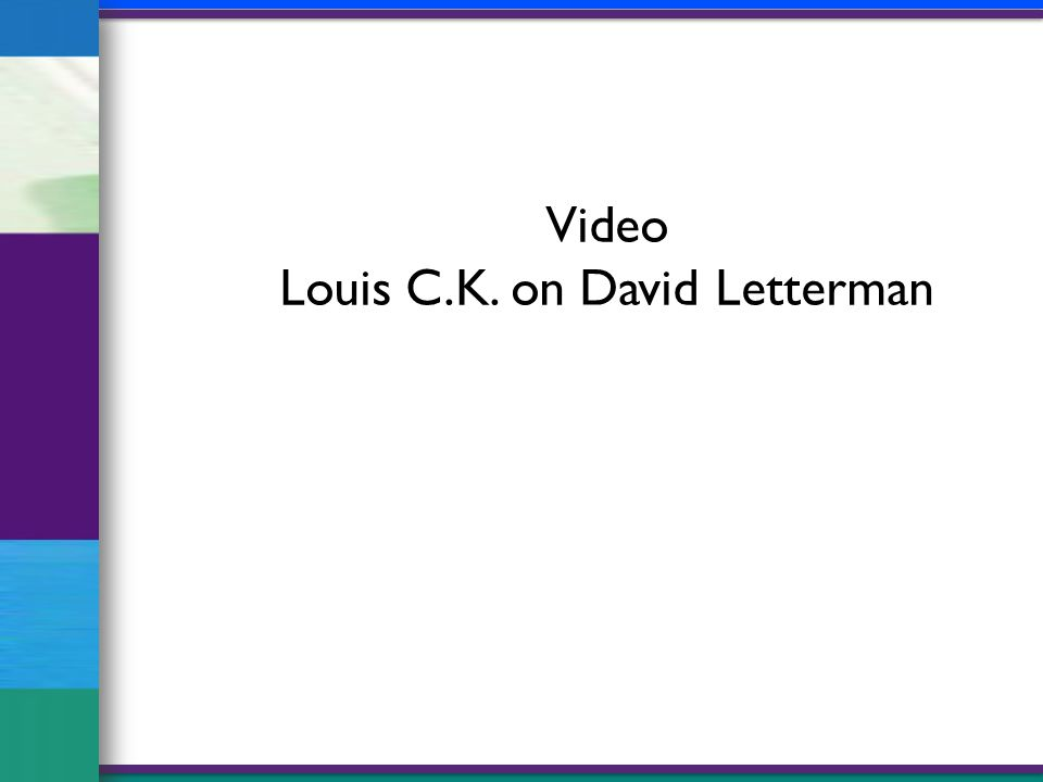 Video Louis C.K. on David Letterman