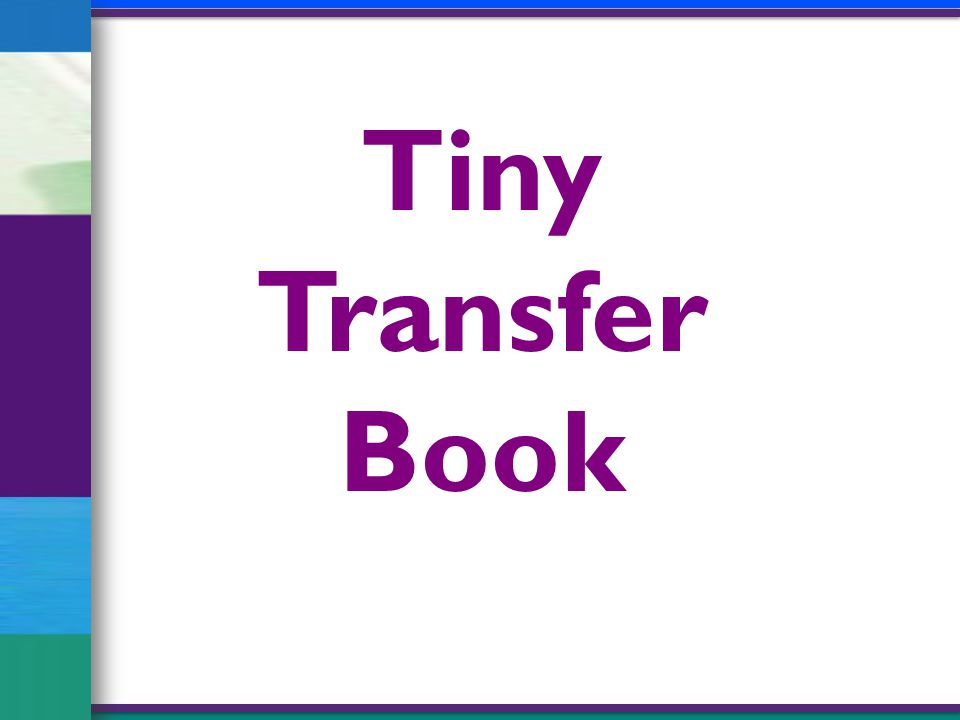 Tiny Transfer Book