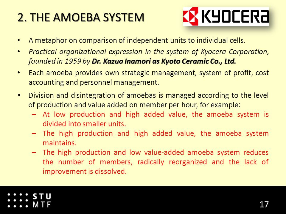 2. THE AMOEBA SYSTEM A metaphor on comparison of independent units to individual cells.