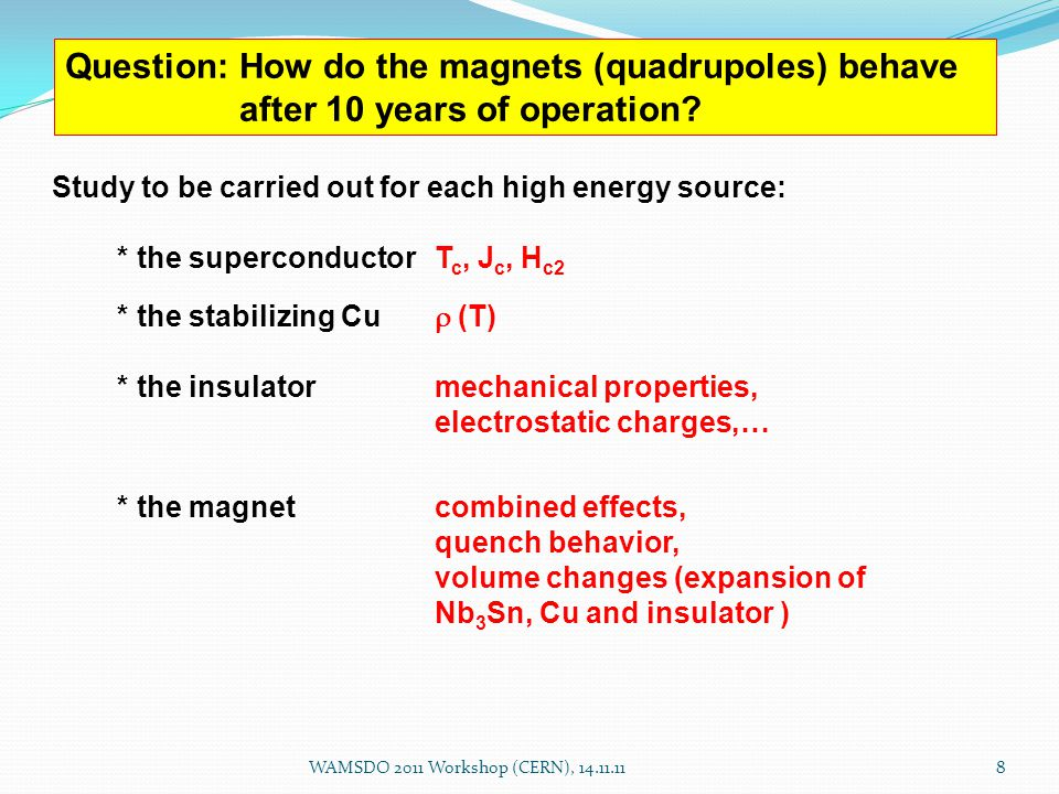 Question: How do the magnets (quadrupoles) behave after 10 years of operation.