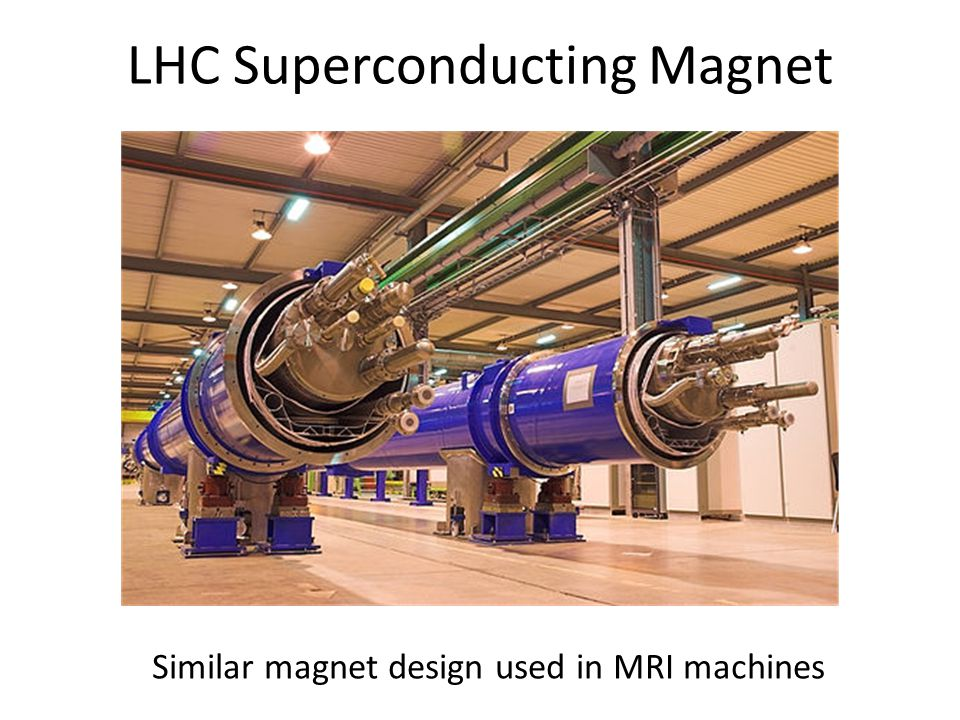 LHC Superconducting Magnet Similar magnet design used in MRI machines