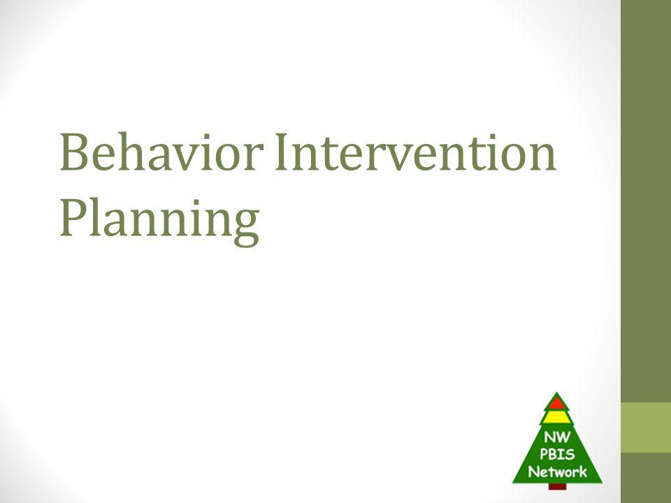 Behavior Intervention Planning