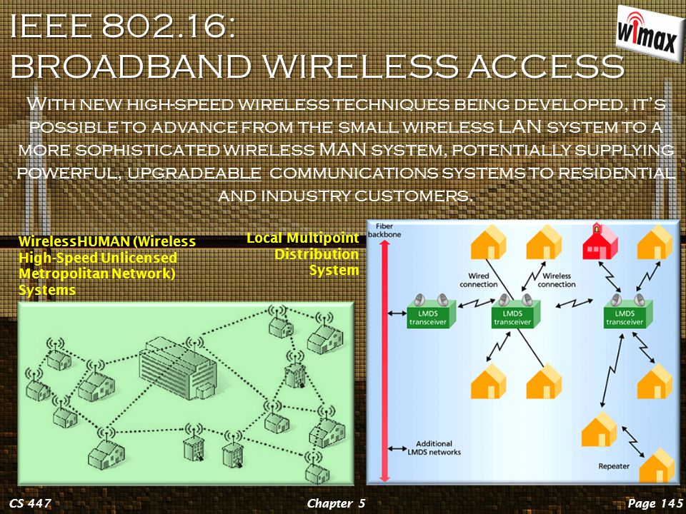 IEEE 802.15: WIRELESS PANS Page 144Chapter 5CS 447 Personal area networks include Bluetooth's piconets , small localized networks of devices that communicate with each other by perpetually hopping between frequencies in a manner that prevents mutual interference as well as external eavesdropping.