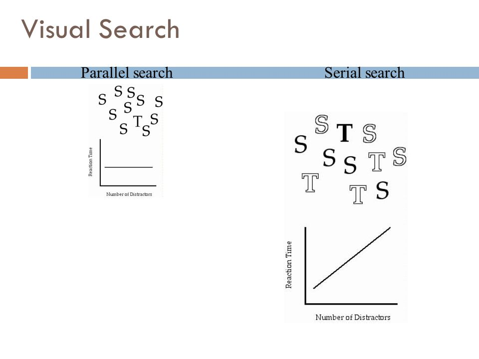 Visual Search Parallel searchSerial search