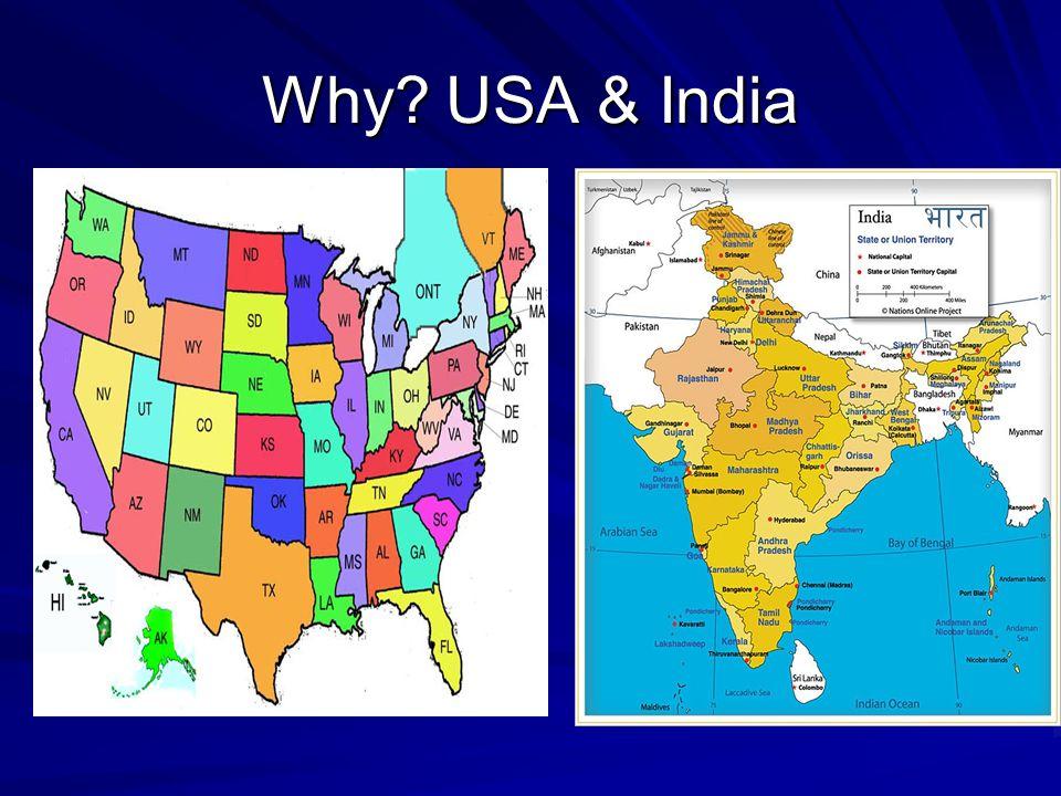 Economy: USA & India Economy: USA & India The USA is the world's most developed nation.