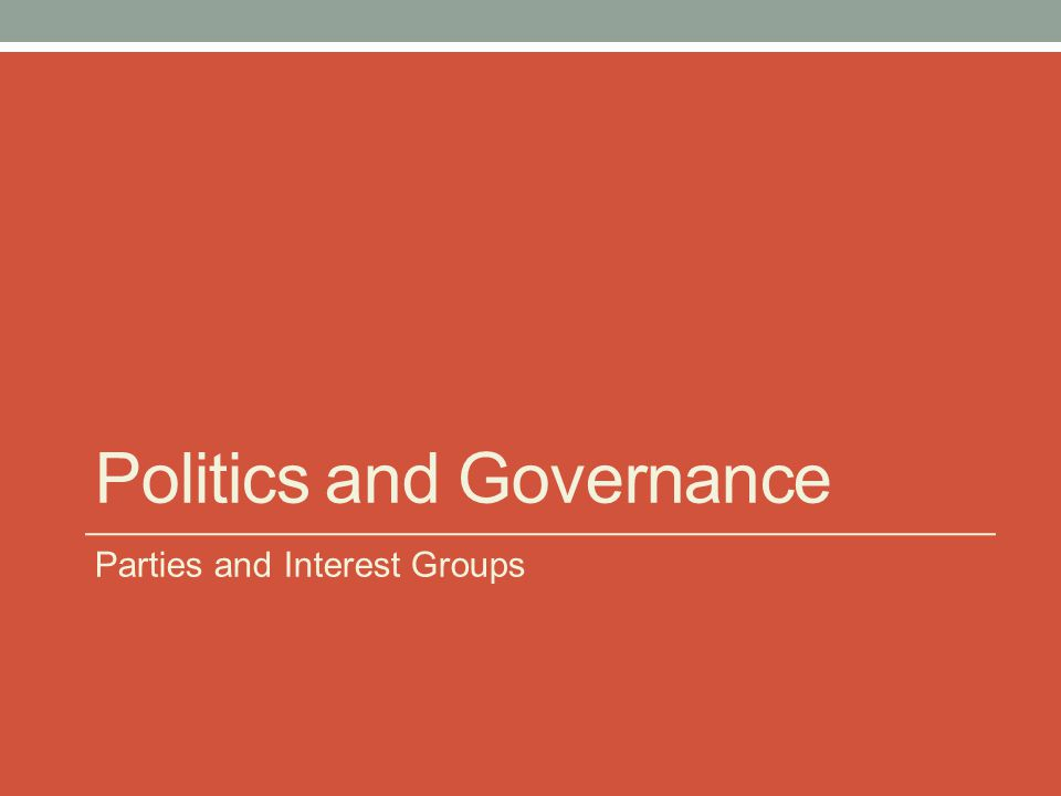 Political Parties Political parties lie at the heart of democratic government, playing several critical roles in the way that national political systems are ordered.