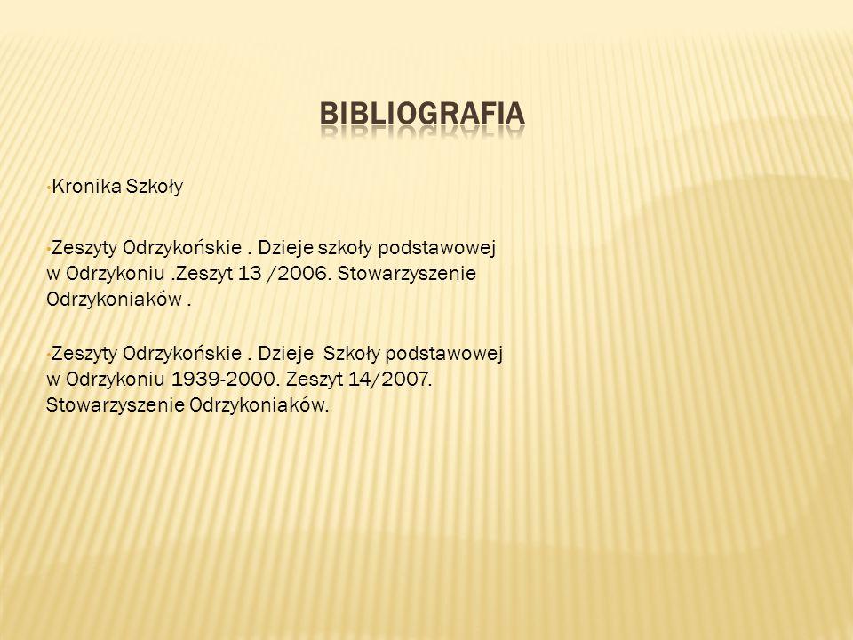 Kronika Szkoły Zeszyty Odrzykońskie. Dzieje szkoły podstawowej w Odrzykoniu.Zeszyt 13 /2006.