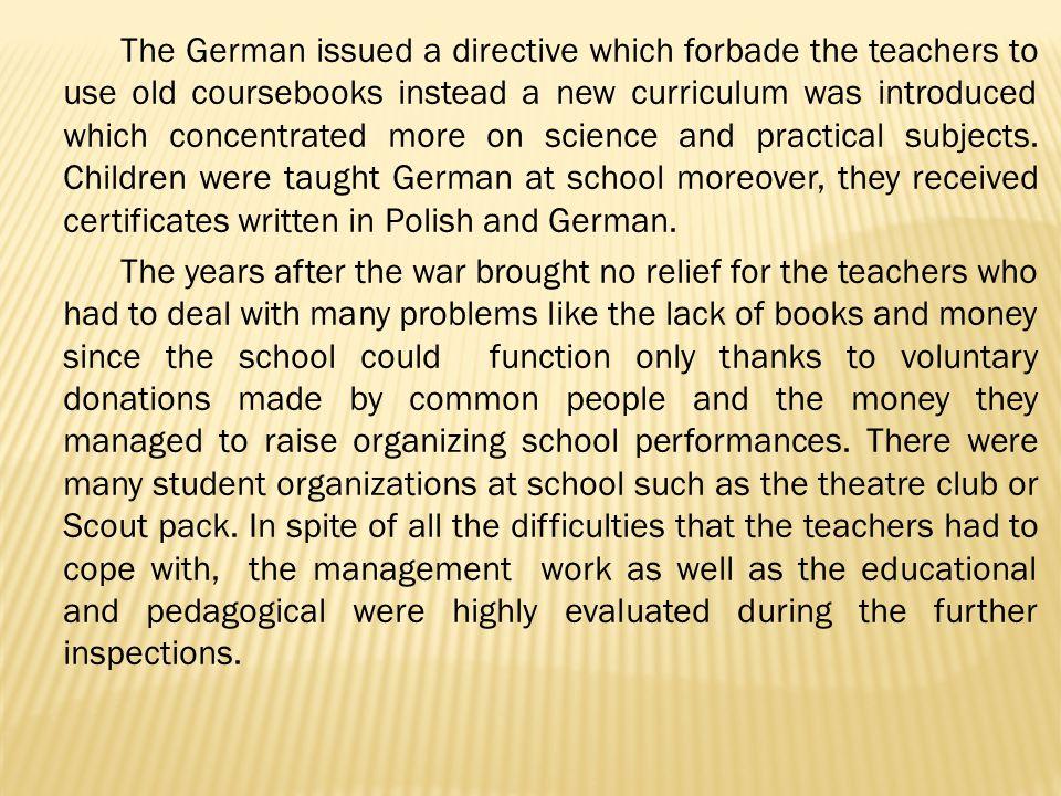The school still counted seven grades.