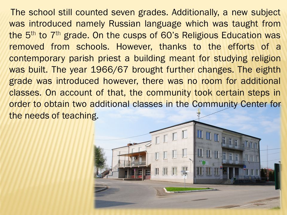 The 70s brought a lot of changes to the system of education.
