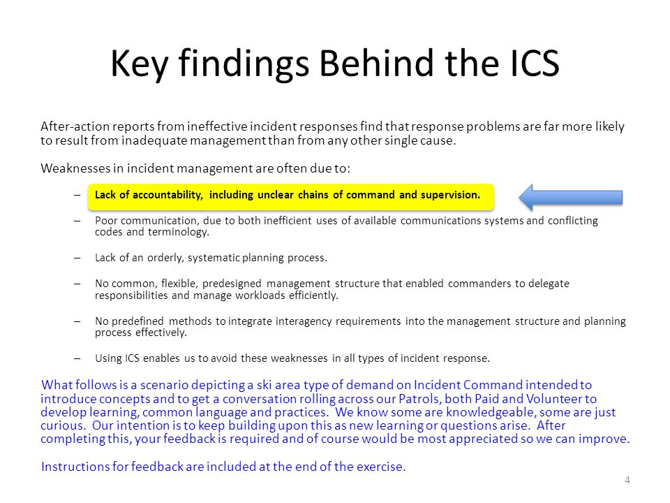 Key findings Behind the ICS After-action reports from ineffective incident responses find that response problems are far more likely to result from in