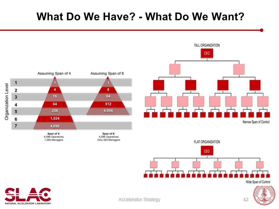 What Do We Have - What Do We Want Accelerator Strategy42
