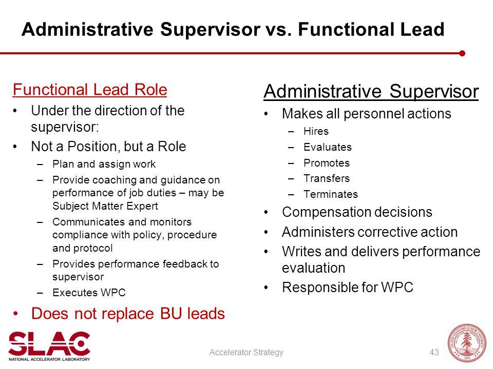 Administrative Supervisor vs.