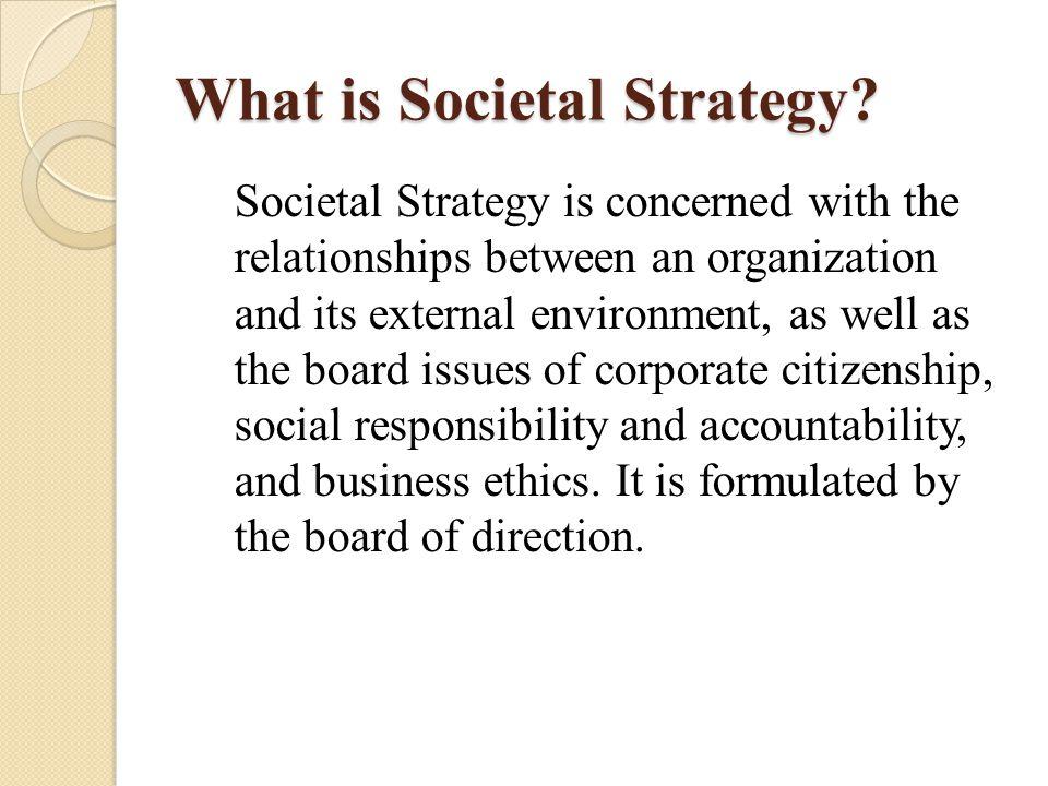 OUTLINE 6: Choosing an Organization Strategy