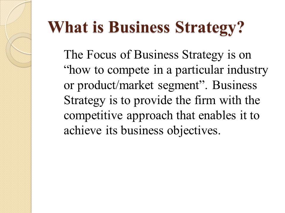 What is Functional Strategy.