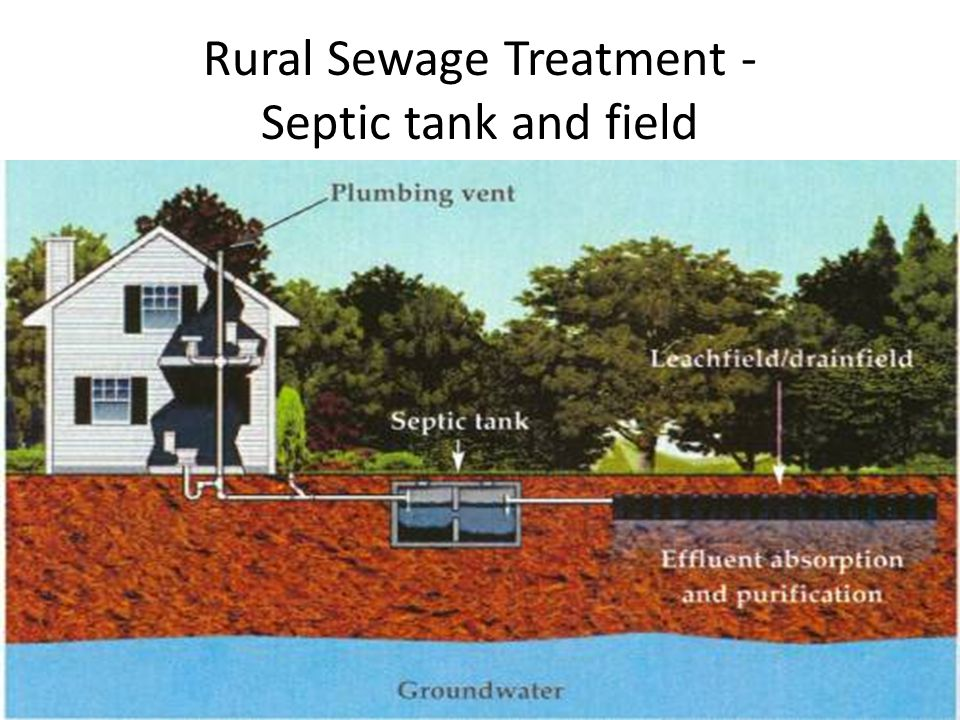 Rural Sewage Treatment - Septic tank and field