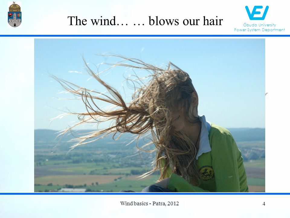 Óbuda University Power System Department Monthly energy production Wind basics - Patra, 2012 65