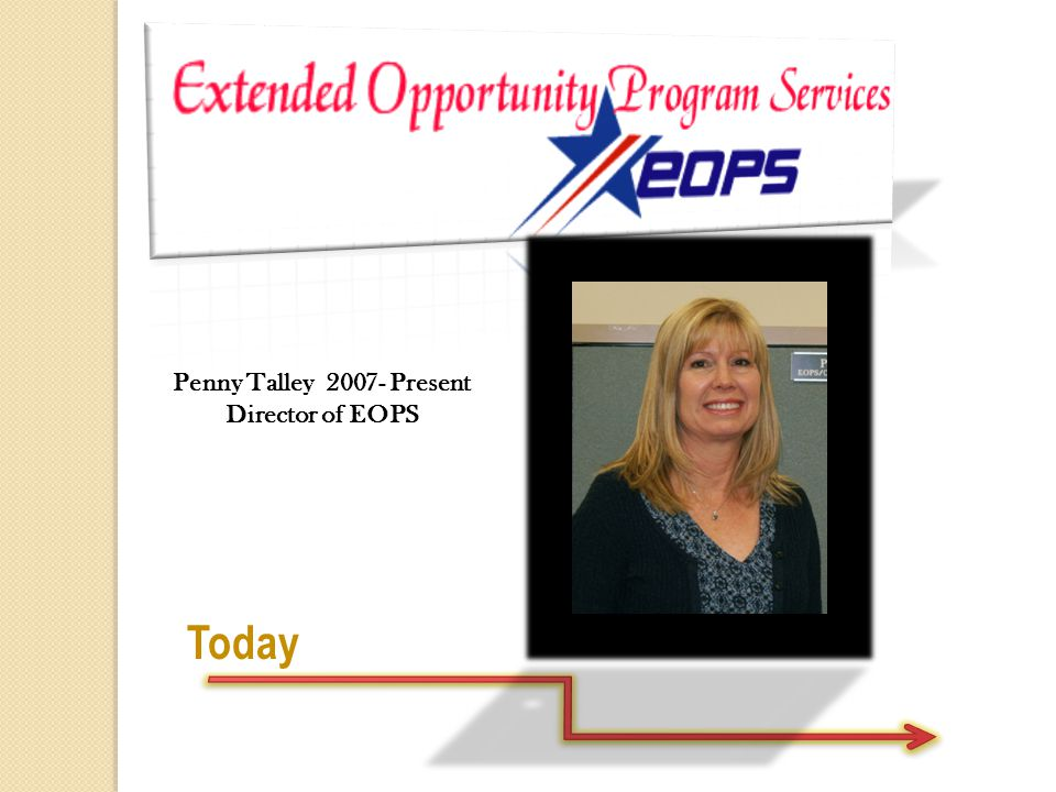 Today Penny Talley 2007- Present Director of EOPS