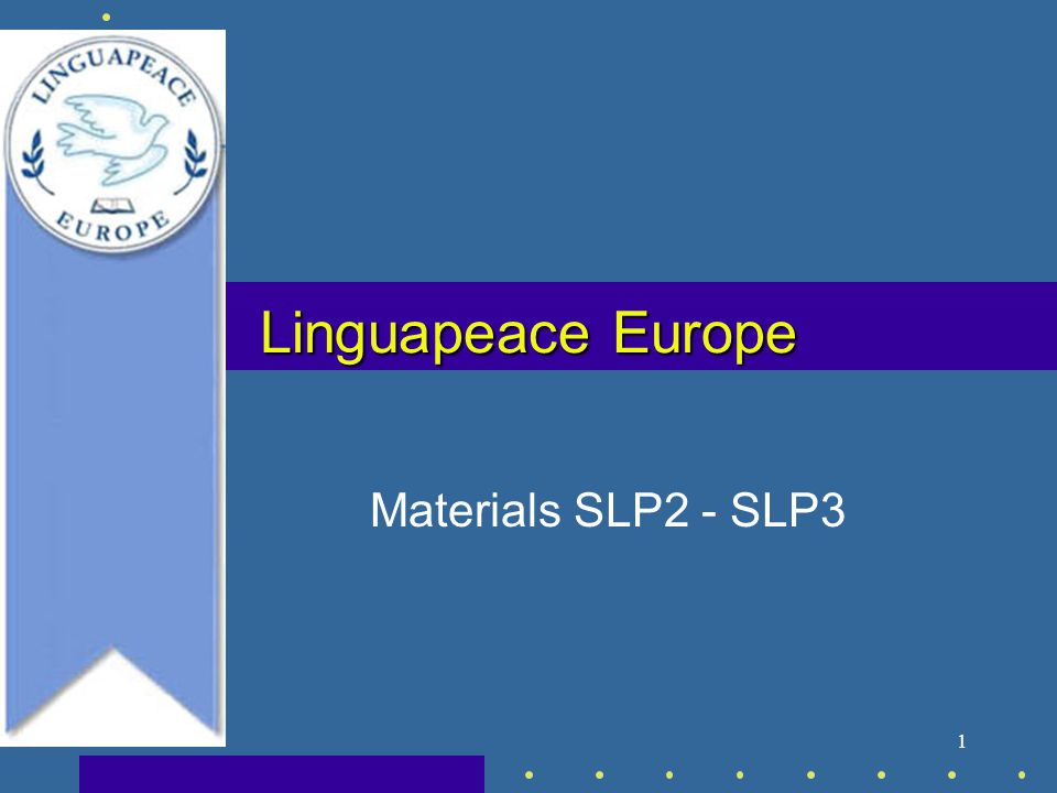1 Linguapeace Europe Materials SLP2 - SLP3