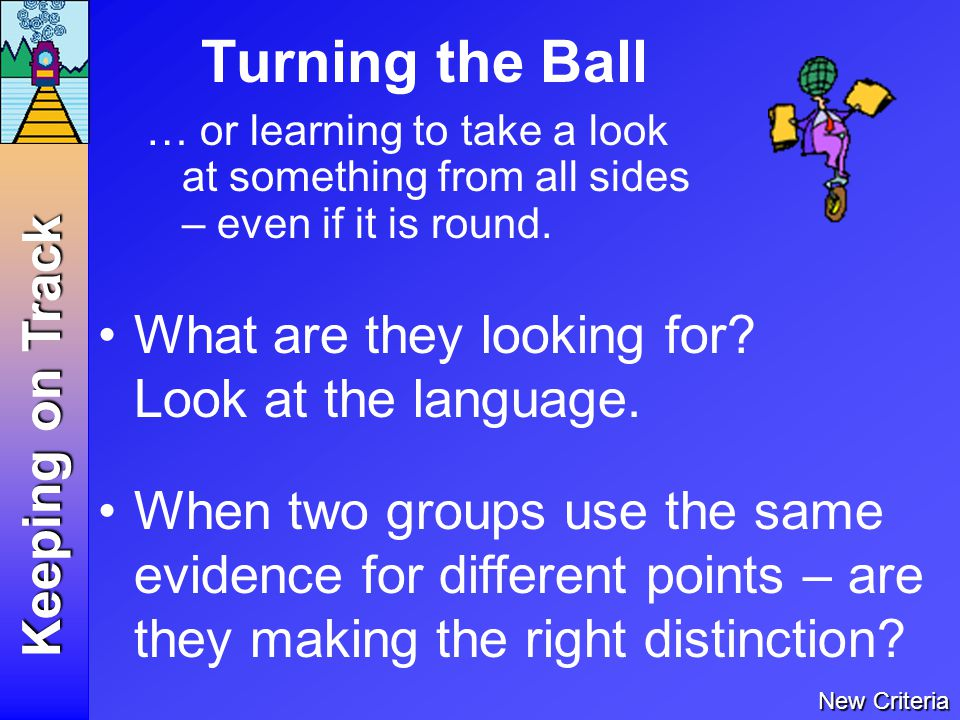 Turning the Ball … or learning to take a look at something from all sides – even if it is round.