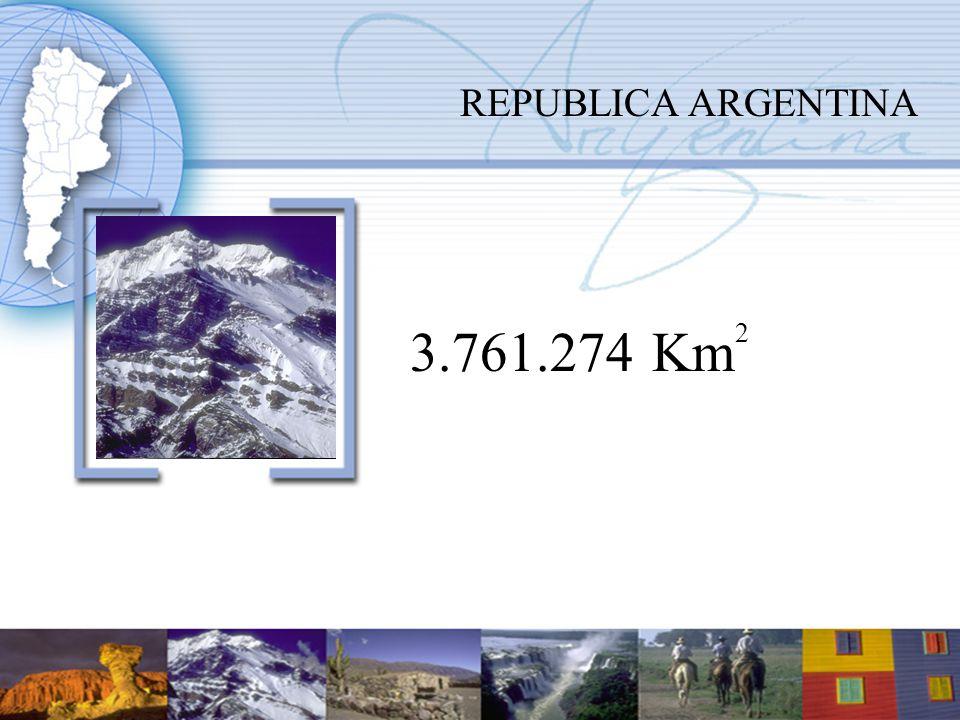 REPUBLICA ARGENTINA 3.761.274 Km 2