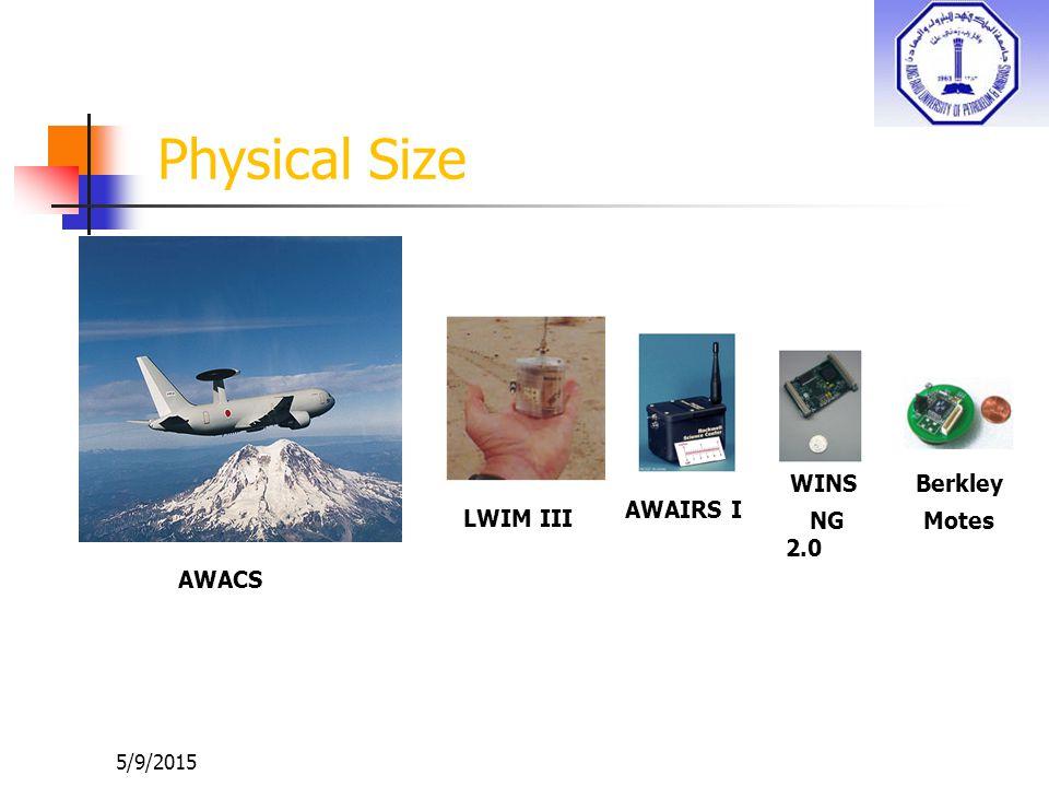 5/9/2015 Physical Size AWACS LWIM III AWAIRS I WINS NG 2.0 Berkley Motes