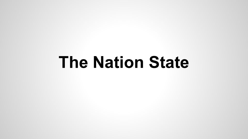 The Nation State