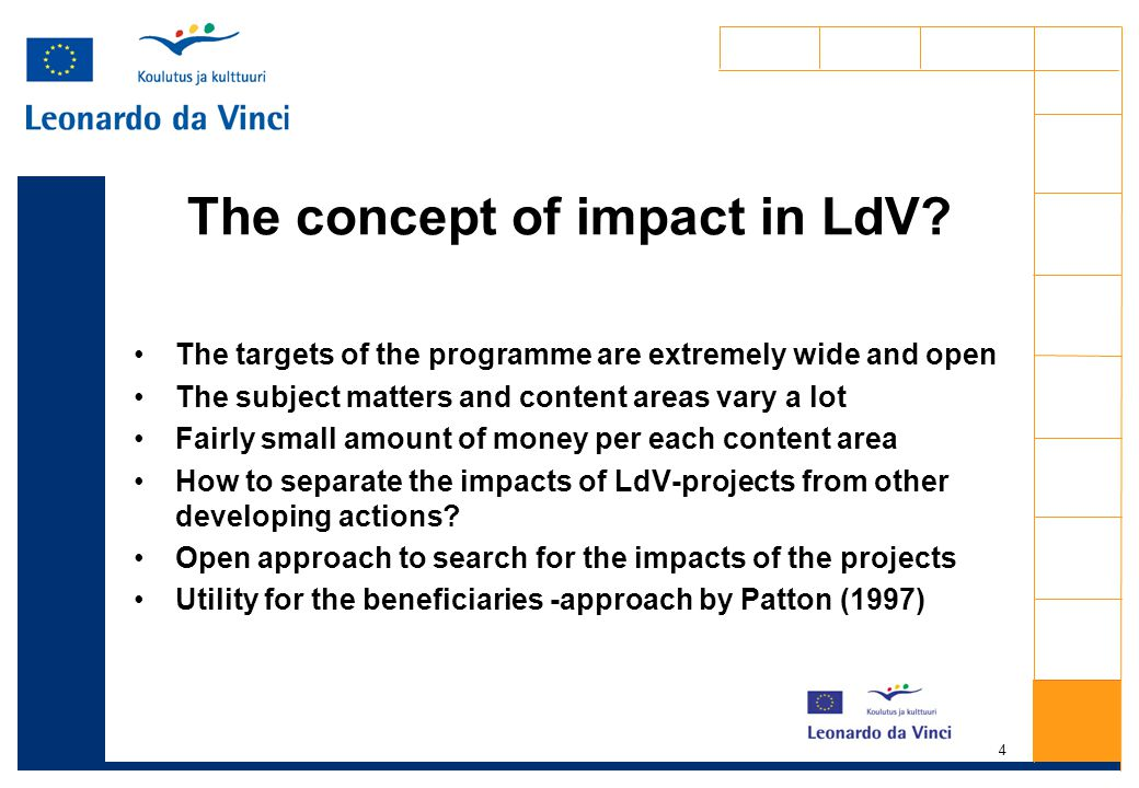 4 The concept of impact in LdV.
