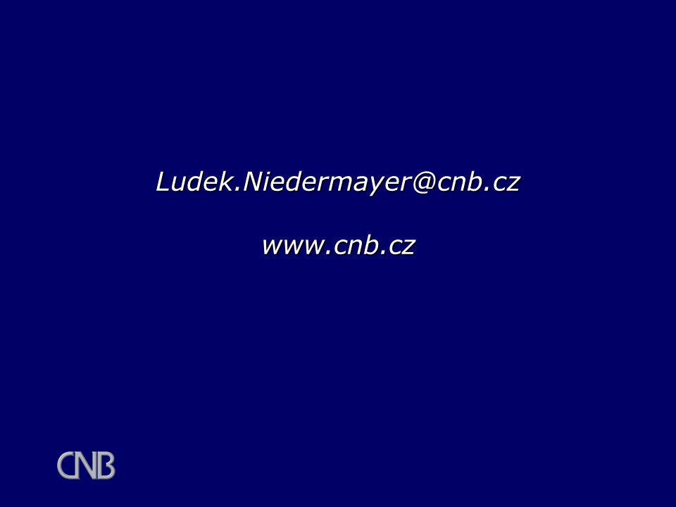 Ludek.Niedermayer@cnb.cz www.cnb.cz