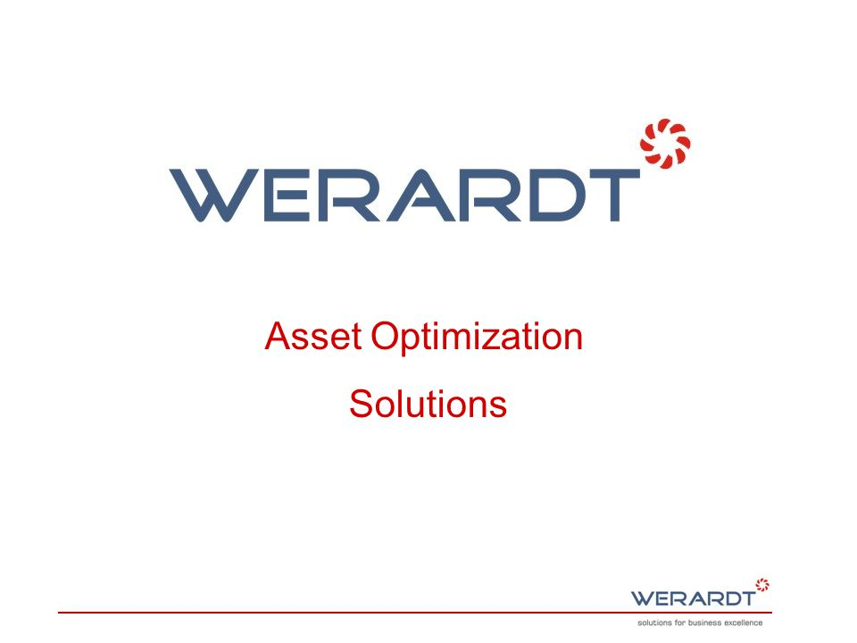 Asset Optimization Solutions