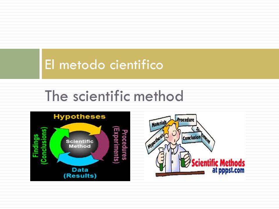 Que es el metodo cientifico.