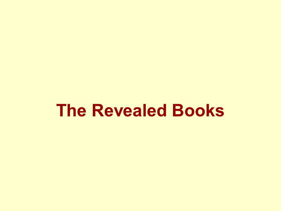 The Revealed Books