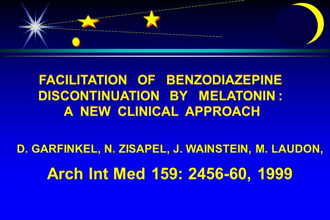D. GARFINKEL, N. ZISAPEL, J. WAINSTEIN, M. LAUDON, Arch Int Med 159: 2456-60, 1999 D.