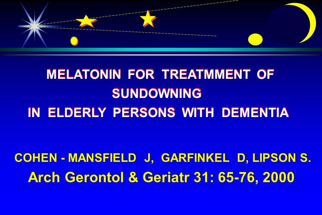COHEN - MANSFIELD J, GARFINKEL D, LIPSON S.