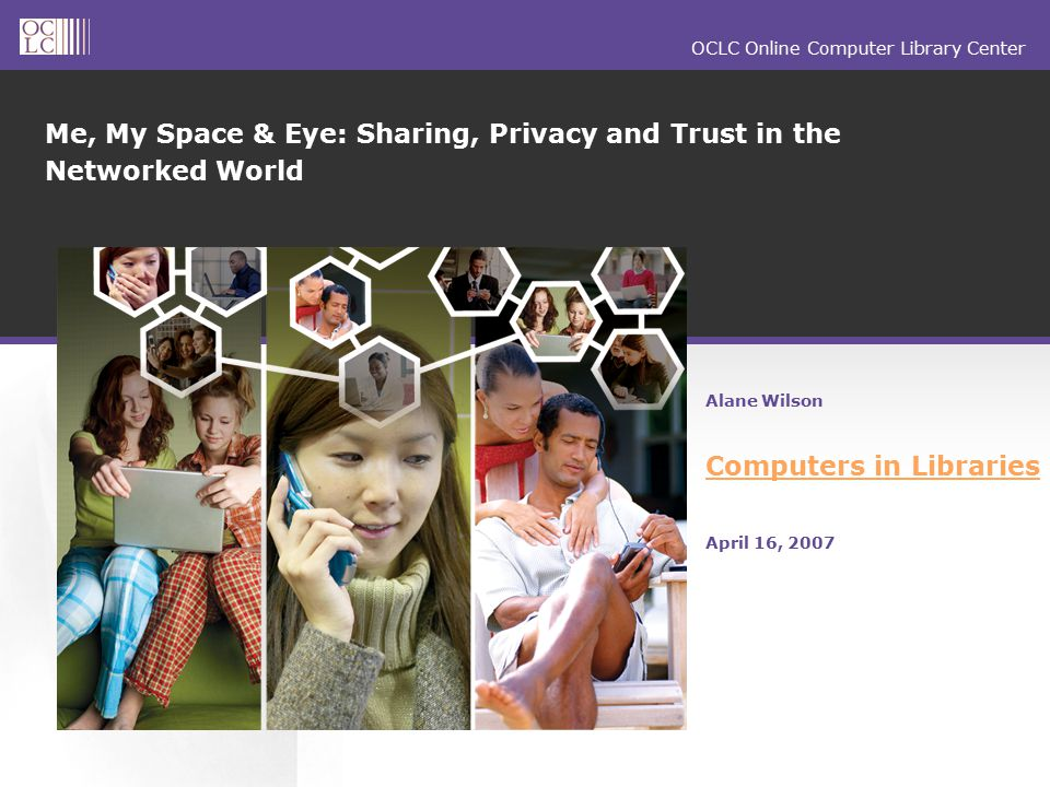 OCLC Online Computer Library Center Q911: Please rate how private, if at all, the following information is to you.