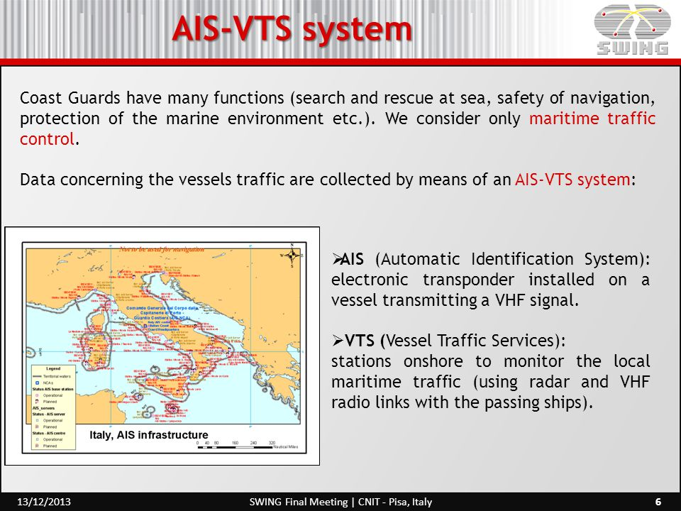 AIS-VTS system Coast Guards have many functions (search and rescue at sea, safety of navigation, protection of the marine environment etc.). We consid