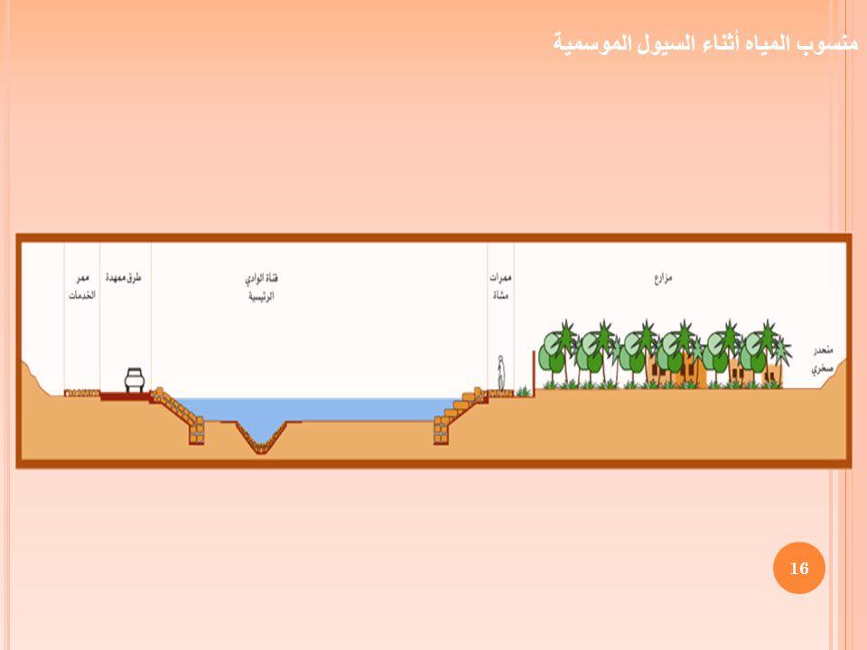 16 منسوب المياه أثناء السيول الموسمية