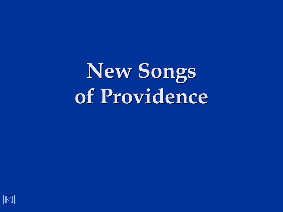 New Songs of Providence