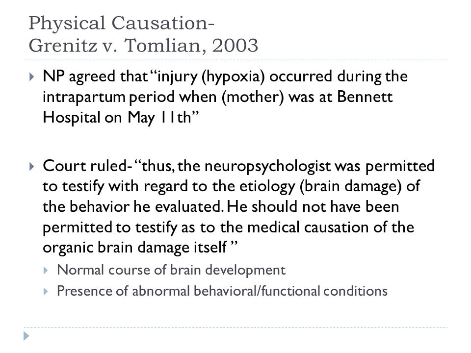Physical Causation- Grenitz v.
