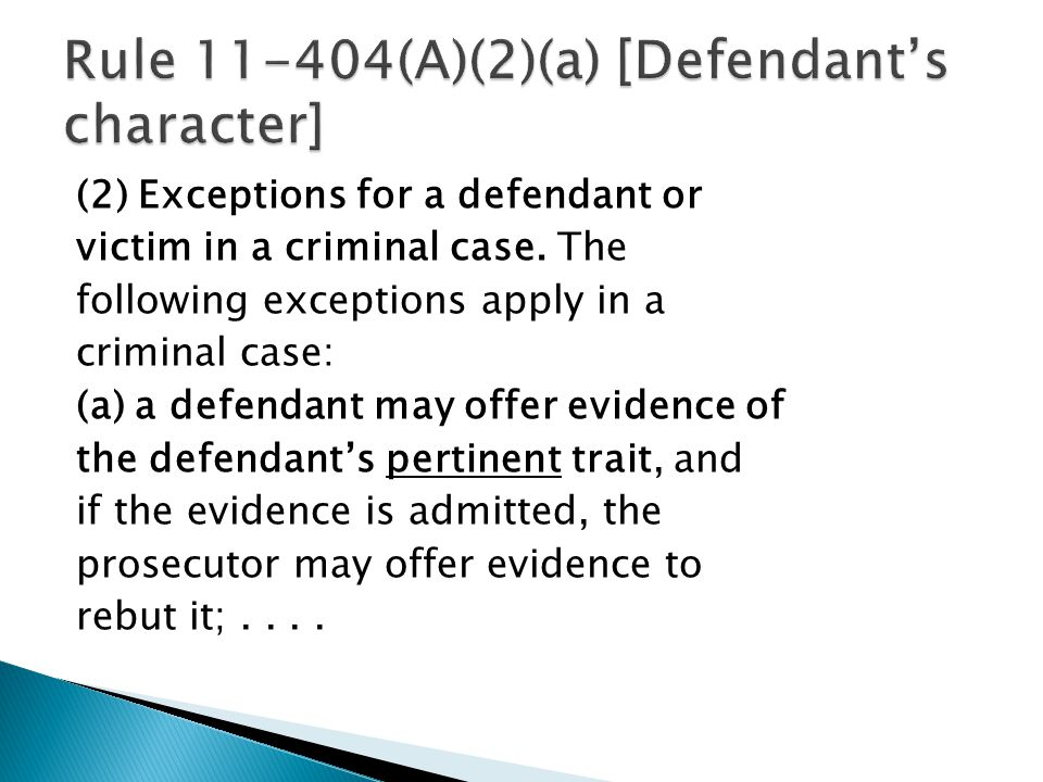(2) Exceptions for a defendant or victim in a criminal case.