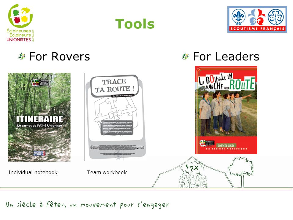 Tools For RoversFor Leaders Individual notebookTeam workbook