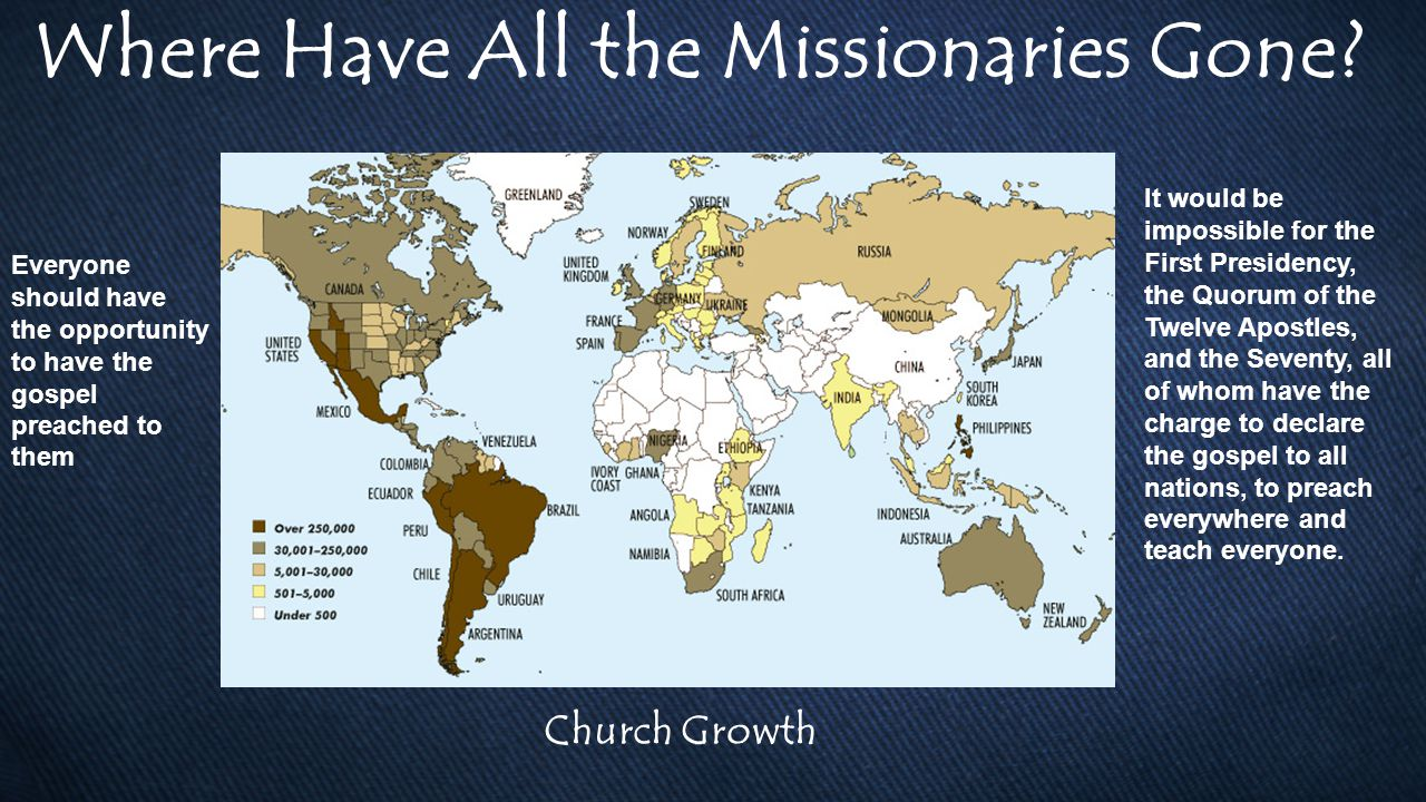 Where Have All the Missionaries Gone.